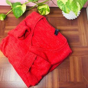 vtg vsco chunky oversized red boyfriend sweater